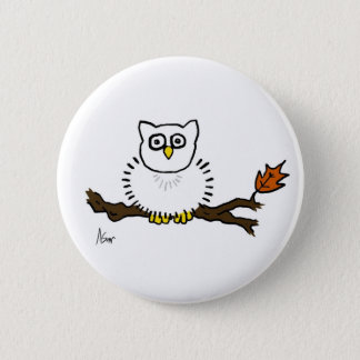 Snowy Owl Button