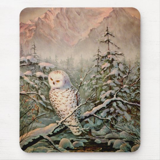 SNOWY OWL by SHARON SHARPE Mouse Mat