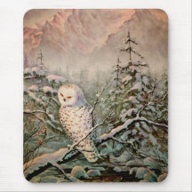 SNOWY OWL by SHARON SHARPE Mouse Pad