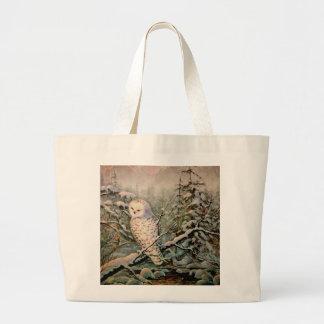 SNOWY OWL by SHARON SHARPE Jumbo Tote Bag