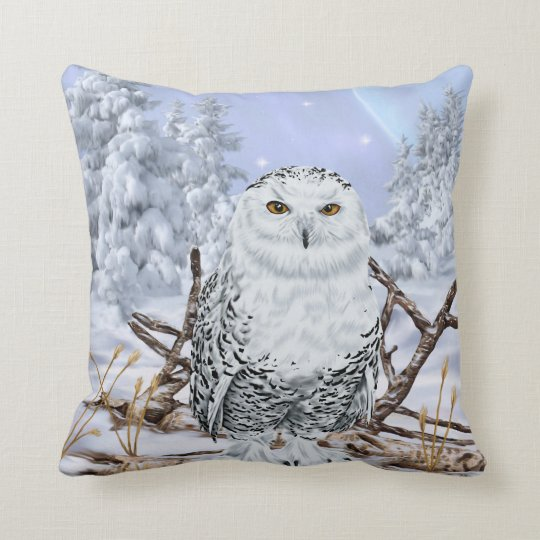 Snowy Owl Cushion