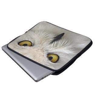 Snowy Owl Eyes Laptop Sleeve