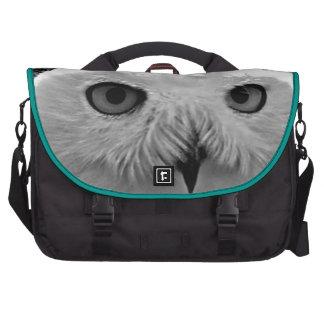 Snowy owl eyes messenger bag computer bag