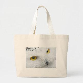 SNOWY OWL EYES JUMBO TOTE BAG