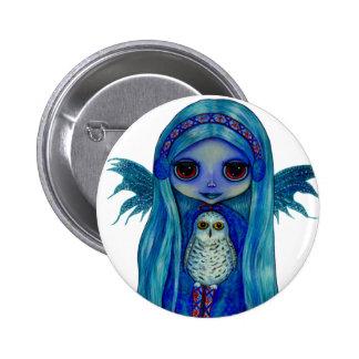 Snowy Owl Fairy Button