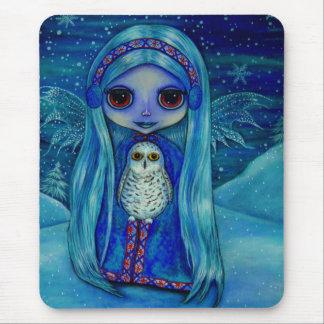 Snowy Owl Fairy Mousepad