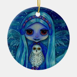 Snowy Owl Fairy Ornament