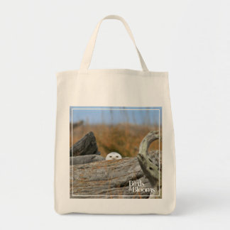 Snowy Owl Grocery Tote Bag