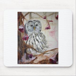 Snowy Owl in a Tree Mousepads