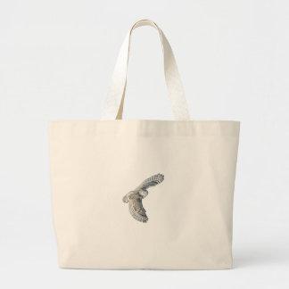Snowy Owl in Flight Canvas Bag