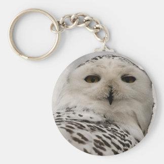 snowy owl key ring