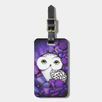 Snowy Owl Luggage Tag