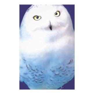 Snowy Owl Pattern Stationery