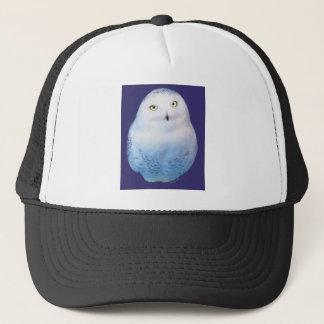Snowy Owl Pattern Trucker Hat