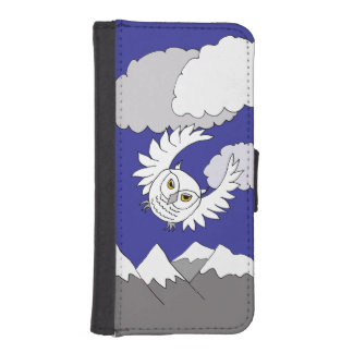 snowy owl phone wallet case