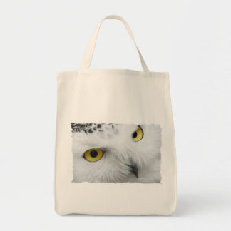 Snowy Owl Photo Grocery Tote Bag