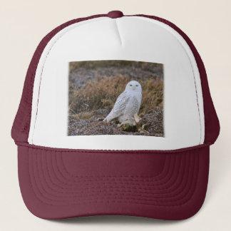 Snowy Owl Photo Trucker Hat