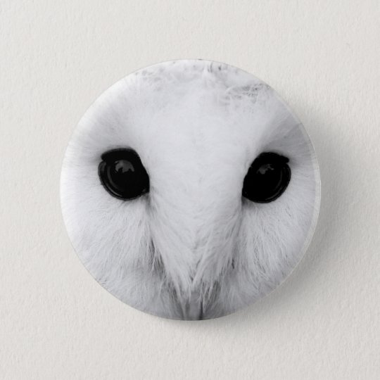 Snowy Owl Round Button