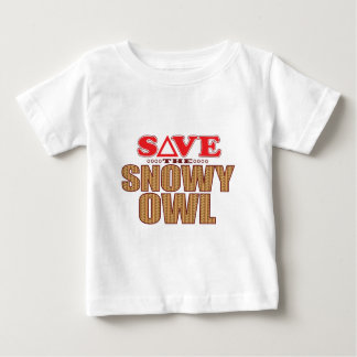 Snowy Owl Save Baby T-Shirt