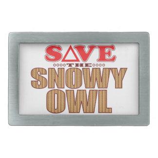 Snowy Owl Save Belt Buckles