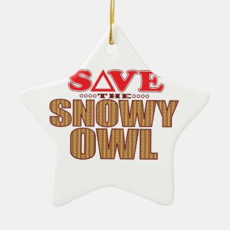 Snowy Owl Save Christmas Ornament