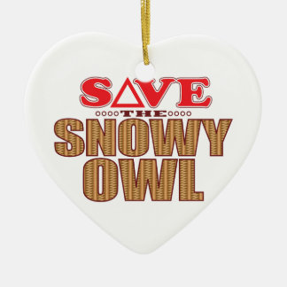 Snowy Owl Save Christmas Ornament