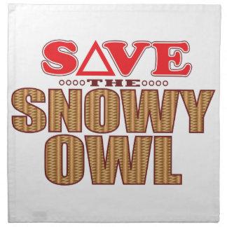 Snowy Owl Save Napkin