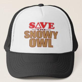 Snowy Owl Save Trucker Hat