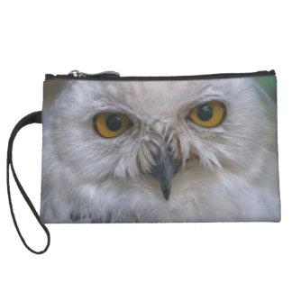 Snowy Owl, snow owl Wristlet