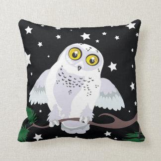 Snowy Owl Starlight Winter~throw pillow