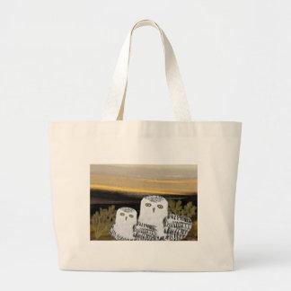 Snowy Owl Sunrise Tote Bag
