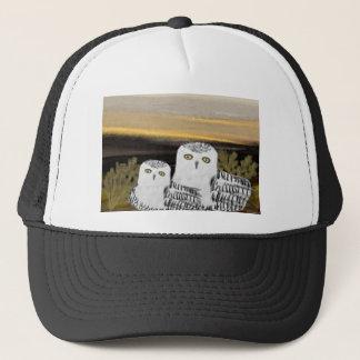 Snowy Owl Sunrise Trucker Hat