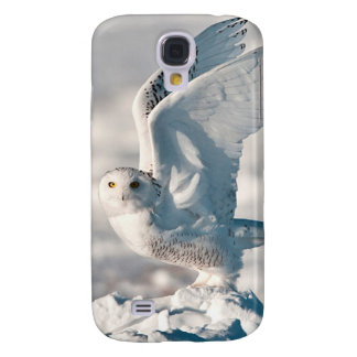 Snowy Owl taking off from snow Galaxy S4 Case