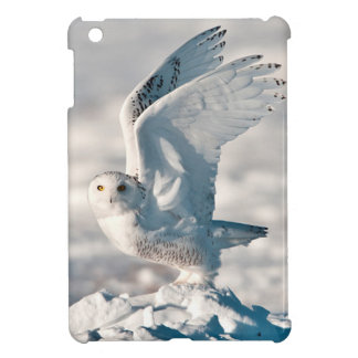 Snowy Owl taking off from snow iPad Mini Cover