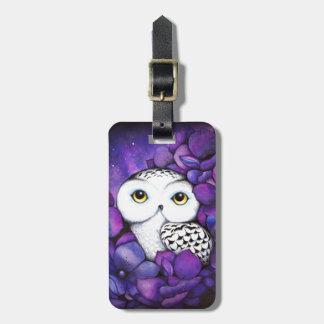 Snowy Owl Travel Bag Tag