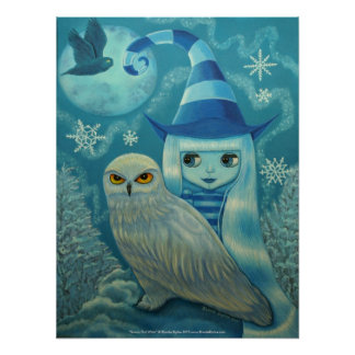 Snowy Owl Witch Poster