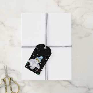 Snowy Owl with Winter Hat Gift Tags