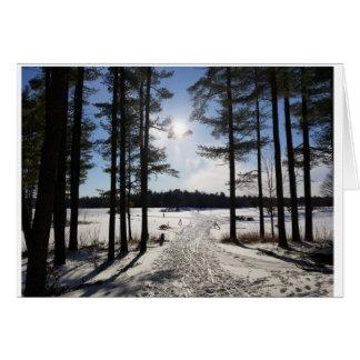 Snowy path card