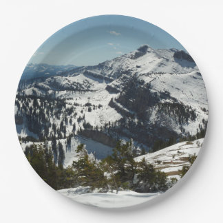 Snowy Peaks of Grand Teton Mountains II Paper Plate