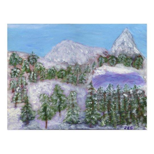 Snowy Peaks Postcard
