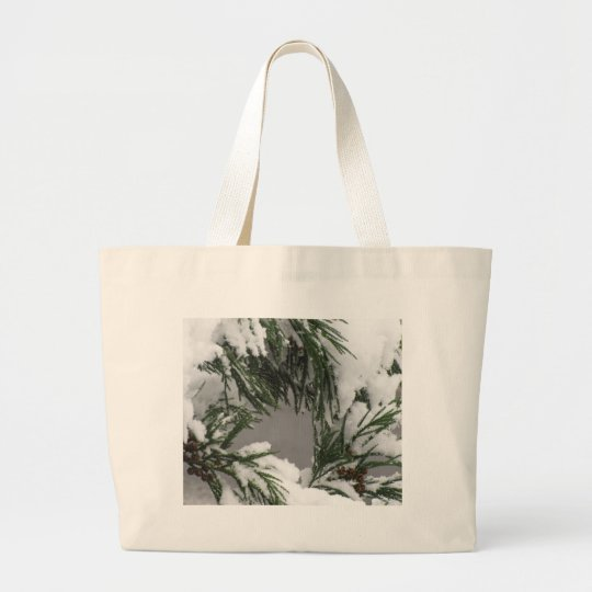 Snowy Pine Large Tote Bag