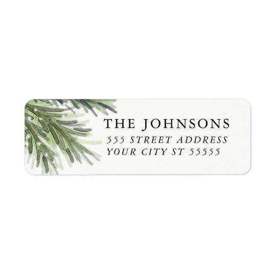 Snowy Pines Return Address Label