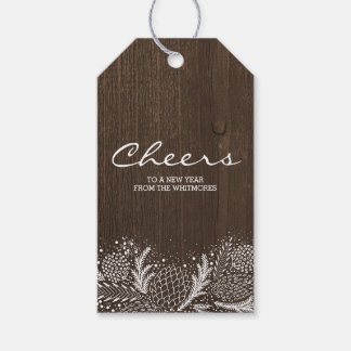 Snowy Pines Rustic Winter Holiday Gift Tags