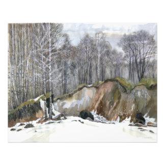 Snowy ravine photographic print