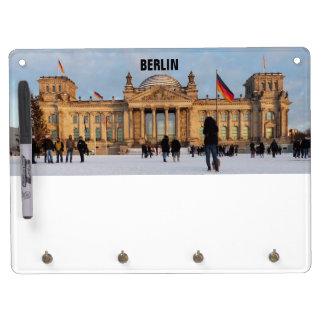 Snowy Reichstag_001.02.T (Reichstag im Schnee) Dry Erase Board With Key Ring Holder