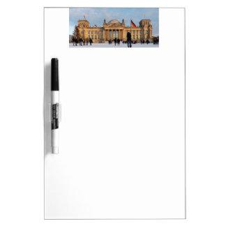 Snowy Reichstag_001.03 (Reichstag im Schnee) Dry Erase Board