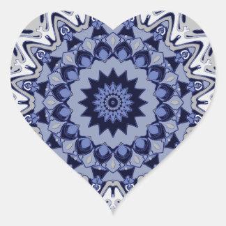 Snowy River Kaleidoscope Design Heart Sticker