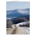 Snowy roads greeting card
