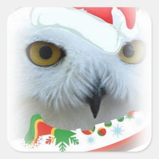 snowy Santa owl eyes Sticker