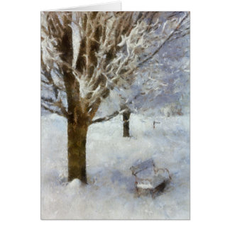 Snowy Scene - Bench Card